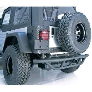 Exterior - Bumpers - Rugged Ridge - Rugged Ridge RRC Rear Bumper, 2 Inch Receiver Hitch; 87-06 Jeep Wrangler YJ/TJ 11503.12
