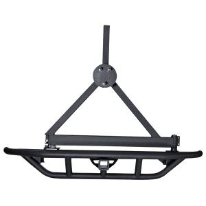 Exterior - Bumpers - Rugged Ridge - Rugged Ridge RRC Rear Bumper/Tire Carrier, 2 Inch Hitch; 87-06 Jeep Wrangler YJ/TJ 11503.13