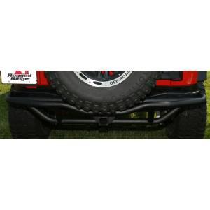 Exterior - Bumpers - Rugged Ridge - Rugged Ridge RRC Rear Bumper, 2 Inch Receiver Hitch; 07-16 Jeep Wrangler JK 11503.15