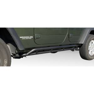 Body Armor - Rocker Armor & Accessories - Rugged Ridge - Rugged Ridge RRC Rocker Guards, Black; 07-16 Jeep Wrangler JKU 11504.22