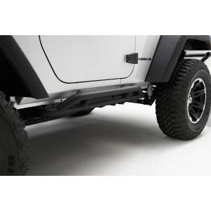 Body Armor - Rocker Armor & Accessories - Rugged Ridge - Rugged Ridge RRC Rocker Guards, Black; 07-16 Jeep Wrangler JK 11504.23