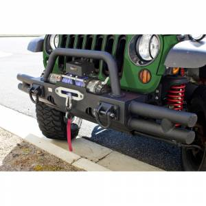 Winches - Winch Mounting & Accessories - Rugged Ridge - Rugged Ridge Tubular Ends, XHD Modular Front Bumper, Black 11540.21