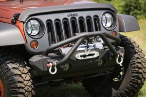 Exterior - Bumpers - Rugged Ridge - Rugged Ridge Double X Striker, Black; 76-86 Jeep CJ/87-16 Wrangler YJ/TJ/JK 11540.25