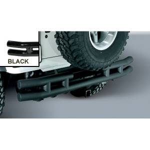 Exterior - Bumpers - Rugged Ridge - Rugged Ridge Double Tube Rear Bumper with Hitch, 3 Inch; 87-06 Jeep Wrangler YJ/TJ 11570.04