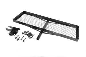 Towing Accessories - Receiver Hitches - Rugged Ridge - Rugged Ridge Receiver Hitch with Cargo Rack; 87-06 Jeep Wrangler YJ/TJ 11580.21