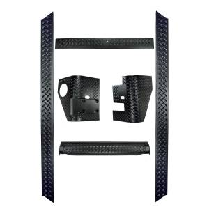 Body Armor - Rocker Armor & Accessories - Rugged Ridge - Rugged Ridge 6 Piece Body Armor Kit; 97-06 Jeep Wrangler TJ 11650.51