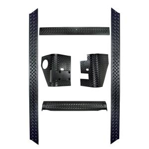Body Armor - Rocker Armor & Accessories - Rugged Ridge - Rugged Ridge 6 Piece Body Armor Kit; 97-06 Jeep Wrangler TJ 11650.61
