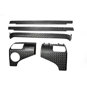 Body Armor - Rocker Armor & Accessories - Rugged Ridge - Rugged Ridge 5 Piece Body Armor Guard Kit, 2 Door; 07-16 Jeep Wrangler JK 11651.51
