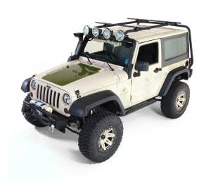 Body Armor - Rocker Armor & Accessories - Rugged Ridge - Rugged Ridge Sherpa Roof Rack, 2 Door; 07-16 Jeep Wrangler JK 11703.01
