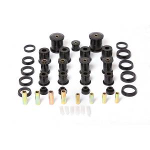 Steering - Track Bars - Rugged Ridge - Rugged Ridge Polyurethane Bushing Kit, Black; 84-01 Jeep Cherokee XJ 1-2004BL