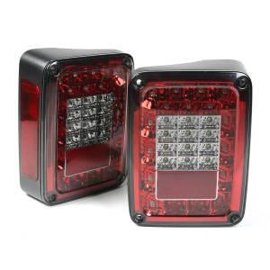 Lighting - Tail Lights - Rugged Ridge - Rugged Ridge LED Tail Light Set, Smoke; 07-16 Jeep Wrangler JK 12403.88