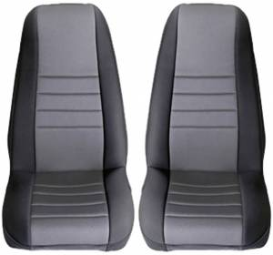 Interior - Seat Covers - Rugged Ridge - Rugged Ridge Neoprene Front Seat Covers, Gray; 97-02 Jeep Wrangler TJ 13210.09