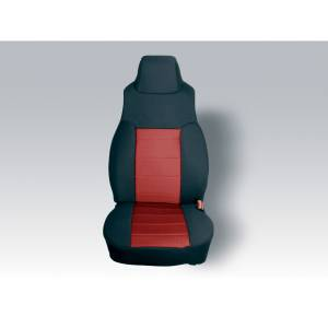 Interior - Seat Covers - Rugged Ridge - Rugged Ridge Neoprene Front Seat Covers, Red; 97-02 Jeep Wrangler TJ 13210.53