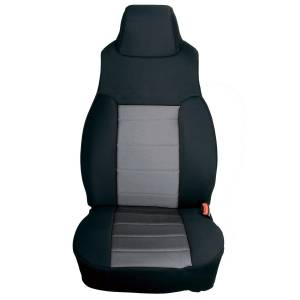 Interior - Seat Covers - Rugged Ridge - Rugged Ridge Neoprene Front Seat Covers, Gray; 91-95 Jeep Wrangler YJ 13211.09
