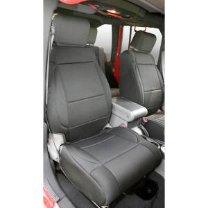 Interior - Seat Covers - Rugged Ridge - Rugged Ridge Neoprene Front Seat Covers, Black; 07-10 Jeep Wrangler JK 13214.01