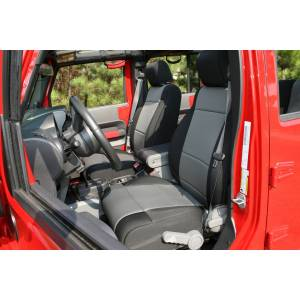 Interior - Seat Covers - Rugged Ridge - Rugged Ridge Neoprene Front Seat Covers, Black/Gray; 07-10 Jeep Wrangler JK 13214.09