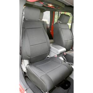Interior - Seat Covers - Rugged Ridge - Rugged Ridge Neoprene Front Seat Covers, Black; 11-16 Jeep Wrangler JK 13215.01