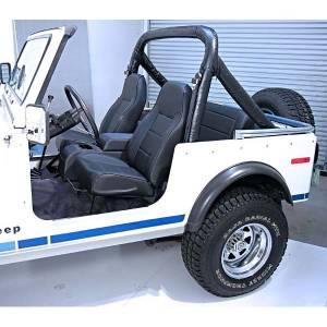 Interior - Seats & Mounts - Rugged Ridge - Rugged Ridge High-Back Front Seat, No-Recline, Black; 76-02 Jeep CJ/Wrangler YJ/TJ 13401.01