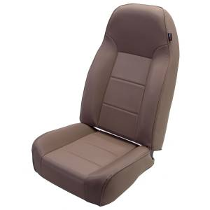 Interior - Seats & Mounts - Rugged Ridge - Rugged Ridge High-Back Front Seat, No-Recline, Tan; 76-02 Jeep CJ/Wrangler YJ/TJ 13401.04