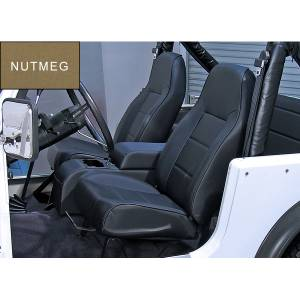 Interior - Seats & Mounts - Rugged Ridge - Rugged Ridge High-Back Front Seat, No-Recline, Nutmeg; 76-02 Jeep CJ/Wrangler YJ/TJ 13401.07