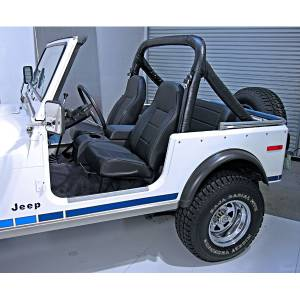 Interior - Seats & Mounts - Rugged Ridge - Rugged Ridge High-Back Front Seat, No-Recline, Black Denim; 76-02 CJ/Wrangler YJ/TJ 13401.15