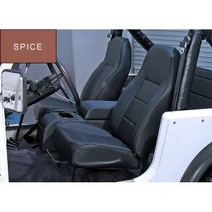 Interior - Seats & Mounts - Rugged Ridge - Rugged Ridge High-Back Front Seat, No-Recline, Spice; 76-02 Jeep CJ/Wrangler YJ/TJ 13401.37