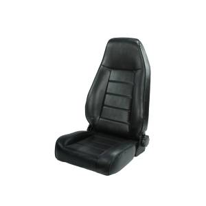 Interior - Seats & Mounts - Rugged Ridge - Rugged Ridge High-Back Front Seat, Reclinable, Black; 76-02 Jeep CJ/Wrangler YJ/TJ 13402.01
