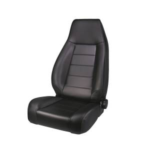 Interior - Seats & Mounts - Rugged Ridge - Rugged Ridge High-Back Front Seat, Reclinable, Black Denim; 76-02 CJ/Wrangler YJ/TJ 13402.15