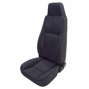 Interior - Seats & Mounts - Rugged Ridge - Rugged Ridge High-Back Front Seat, Reclinable, Black Denim; 76-02 CJ/Wrangler YJ/TJ 13403.15