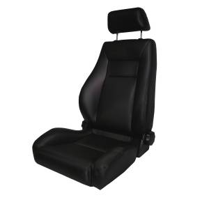 Interior - Seats & Mounts - Rugged Ridge - Rugged Ridge Ultra Front Seat, Reclinable, Black; 76-02 Jeep CJ/Wrangler YJ/TJ 13404.01