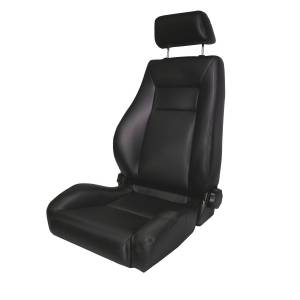 Interior - Seats & Mounts - Rugged Ridge - Rugged Ridge Ultra Front Seat, Reclinable, Black Denim; 76-02 CJ/Wrangler YJ/TJ 13404.15