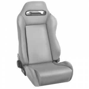 Interior - Seats & Mounts - Rugged Ridge - Rugged Ridge Sport Front Seat, Reclinable, Gray; 76-02 Jeep CJ/Wrangler YJ/TJ 13405.09