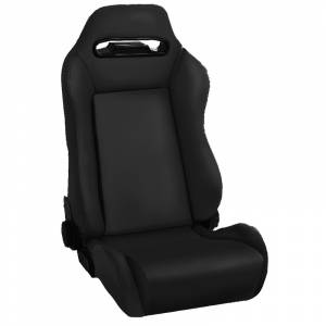 Interior - Seats & Mounts - Rugged Ridge - Rugged Ridge Sport Front Seat, Reclinable, Black Denim; 76-02 CJ/Wrangler YJ/TJ 13405.15