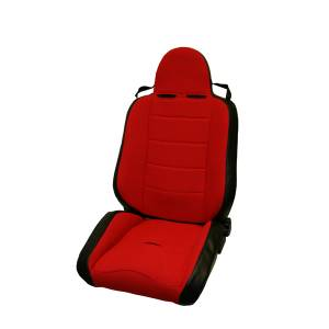 Interior - Seats & Mounts - Rugged Ridge - Rugged Ridge RRC Off Road Racing Seat, Reclinable, Red; 76-02 CJ/Wrangler YJ/TJ 13406.53