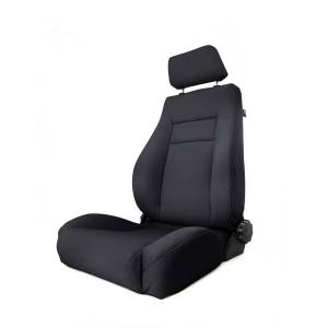 Interior - Seats & Mounts - Rugged Ridge - Rugged Ridge Ultra Front Seat, Reclinable, Black Denim; 97-06 Jeep Wrangler TJ 13414.15