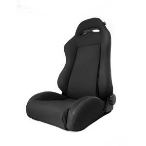 Interior - Seats & Mounts - Rugged Ridge - Rugged Ridge Sport Front Seat, Reclinable, Black Denim; 97-06 Jeep Wrangler TJ 13415.15