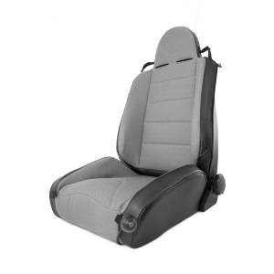 Interior - Seats & Mounts - Rugged Ridge - Rugged Ridge RRC Off Road Racing Seat, Reclinable, Gray; 97-06 Jeep Wrangler TJ 13416.09