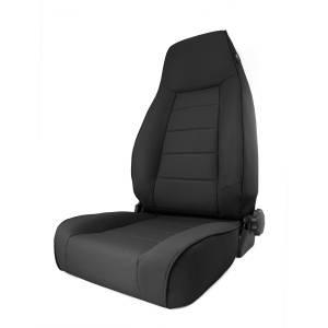 Interior - Seats & Mounts - Rugged Ridge - Rugged Ridge High-Back Front Seat, Reclinable, Black Denim; 84-01 Jeep Cherokee XJ 13445.15