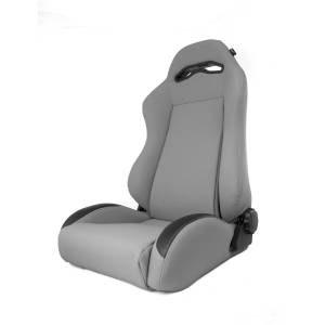 Interior - Seats & Mounts - Rugged Ridge - Rugged Ridge Sport Front Seat, Reclinable, Gray; 84-01 Jeep Cherokee XJ 13447.09