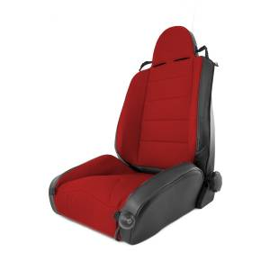 Interior - Seats & Mounts - Rugged Ridge - Rugged Ridge RRC Off Road Racing Seat, Reclinable, Red; 84-01 Jeep Cherokee XJ 13448.53
