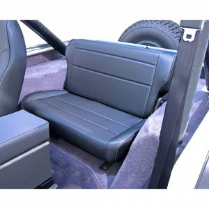 Interior - Seats & Mounts - Rugged Ridge - Rugged Ridge Fold and Tumble Rear Seat, Black; 76-95 Jeep CJ/Wrangler YJ 13462.01