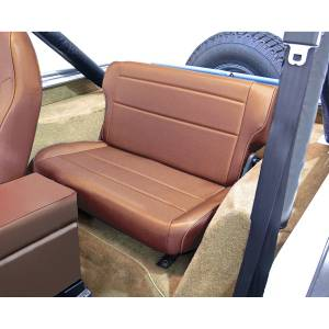 Interior - Seats & Mounts - Rugged Ridge - Rugged Ridge Fold and Tumble Rear Seat, Tan; 76-95 Jeep CJ/Wrangler YJ 13462.04