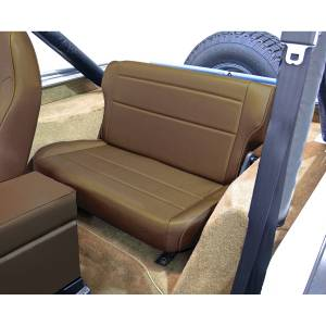 Interior - Seats & Mounts - Rugged Ridge - Rugged Ridge Fold and Tumble Rear Seat, Nutmeg; 76-95 Jeep CJ/Wrangler YJ 13462.07