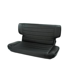Interior - Seats & Mounts - Rugged Ridge - Rugged Ridge Fold and Tumble Rear Seat, Black Denim; 97-02 Jeep Wrangler TJ 13463.15