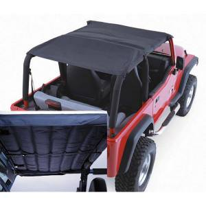 Exterior - Soft Tops - Rugged Ridge - Rugged Ridge Acoustic Island Topper Soft Top, Black Denim; 97-06 Jeep Wrangler TJ 13582.15