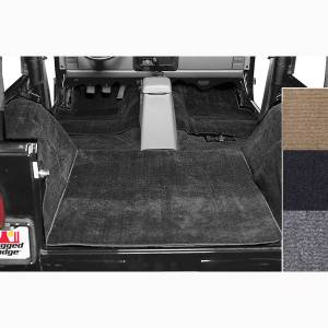 Interior - Roll Cages - Rugged Ridge - Rugged Ridge Deluxe Carpet Kit, Black; 76-95 Jeep CJ/Wrangler YJ 13690.01
