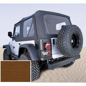Exterior - Soft Tops - Rugged Ridge - Rugged Ridge Soft Top, Door Skins, Dark Tan, Clear Windows; 97-02 Jeep Wrangler TJ 13703.33