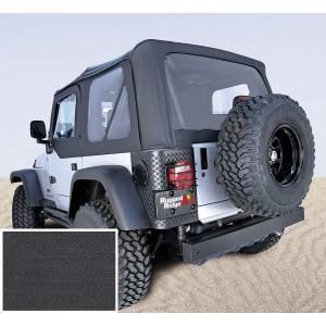 Exterior - Soft Tops - Rugged Ridge - Rugged Ridge Soft Top, Black, Clear Windows; 97-02 Jeep Wrangler TJ 13705.15