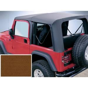 Exterior - Soft Tops - Rugged Ridge - Rugged Ridge Soft Top, Dark Tan, Clear Windows; 97-02 Jeep Wrangler TJ 13705.33