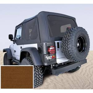 Exterior - Soft Tops - Rugged Ridge - Rugged Ridge Soft Top, Dark Tan, Tinted Windows; 97-02 Jeep Wrangler TJ 13706.33